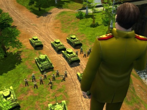 Stalin overlooks his forces.