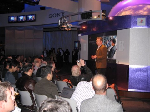 SCEA's Peter Dille appears at Sony's CES press event.