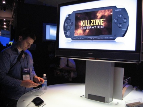 A demo station inside Sony's CES booth.