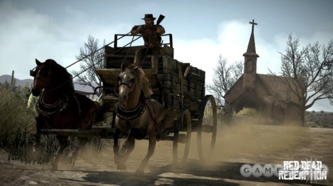 According to Rockstar, Red Dead Redemption will ride into PS3-ville and 360-town on April 27, as scheduled.