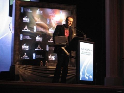Alex Rigopulos speaking at the 2007 D.I.C.E. Summit.