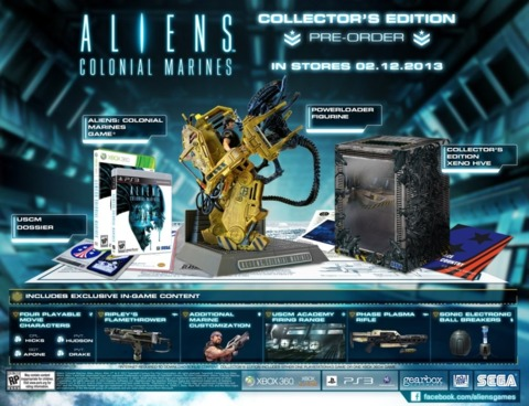 $100 buys all these Aliens: Colonial Marines goodies.