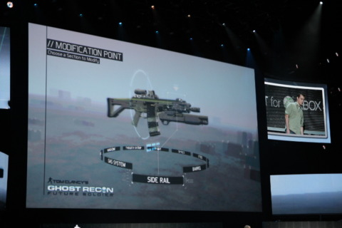 You can use Kinect to customize your guns in Ghost Recon Future Soldier.
