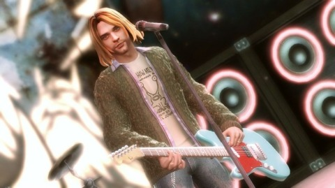 Kurt Cobain's appearance in Guitar Hero was the inspiration for one of numerous jokes at Activision's expense.