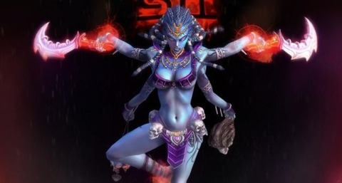 SMITE's version of Hindu goddess Kali, one of the deities to spark objections.