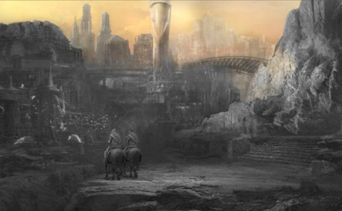The Wheel of Time is thus far just a bit of concept art.