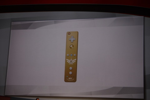 The new gold Wii remote.