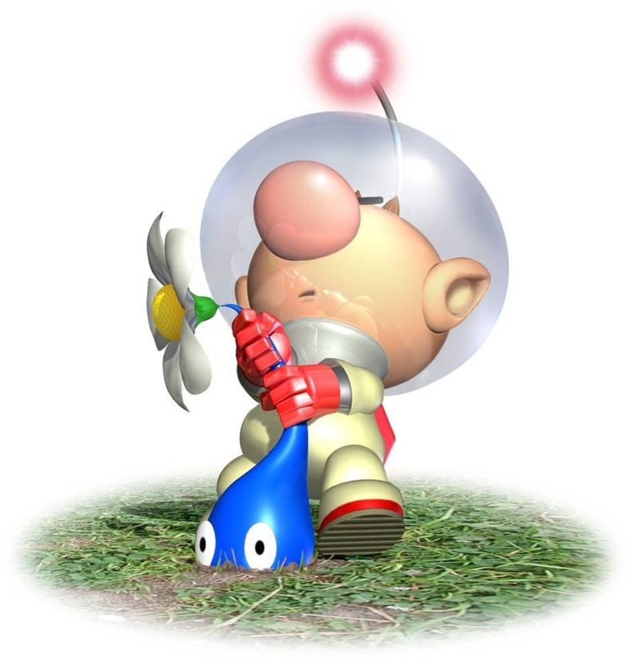 Pikmin debuted on the GameCube in late 2001.