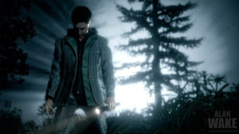 Alan Wake, possibly about to reenact a scene from Fire in the Sky.