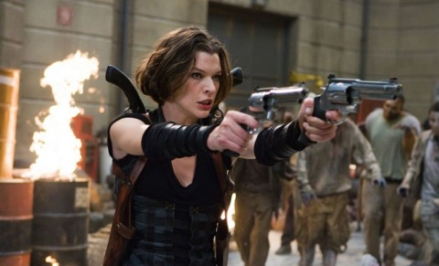Milla Jovovich is not, in fact, one of the zombies in Resident Evil: Afterlife.