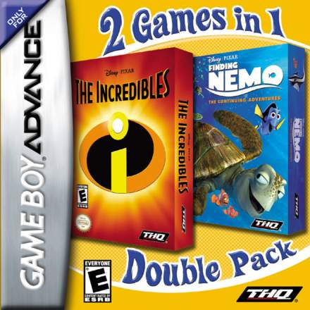 2 Games in 1 Double Pack: The Incredibles / Finding Nemo: The Continuing Adventures
