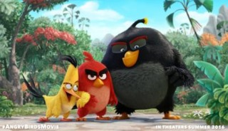 The lead characters in the Angry Birds movie