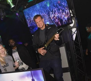 Gronk playing the new Guitar Hero last month