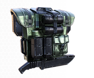 The Ammo pack back attachment