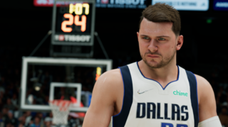 Here's Luka Doncic in NBA 2K22