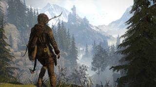 Lara on the precipice.