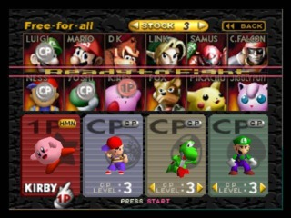 The original Super Smash Bros. roster.