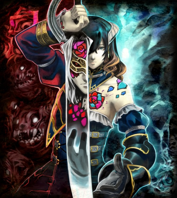 WIP cover art for Bloodstained's physical version, should the Kickstarter campaign meet its goal.