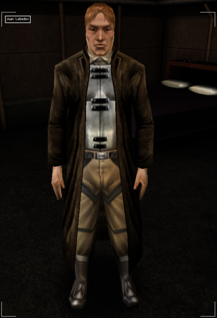 Juan Lebedev, a key character from the first Deus Ex, is a member of the Juggernaut Collective.