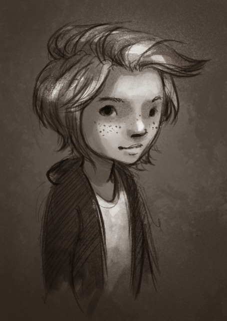 The Hole Story concept art of the main character, Wendy.