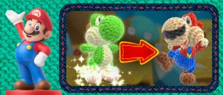 Additional Yoshi skins can be accessed by placing an Amiibo on the GamePad, creating bizarre cross-pollinations such as Mario-Yoshi.