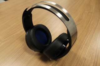 Top view of the Platinum wireless headset.