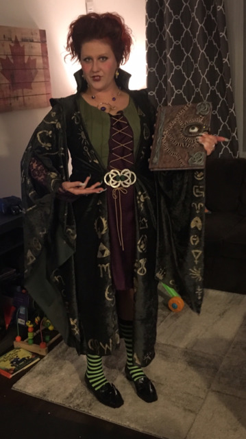 Andrea K. as Winifred Sanderson from Hocus Pocus. Grand prize winner of CNET's and TV Guide's 2018 Halloween costume contest.