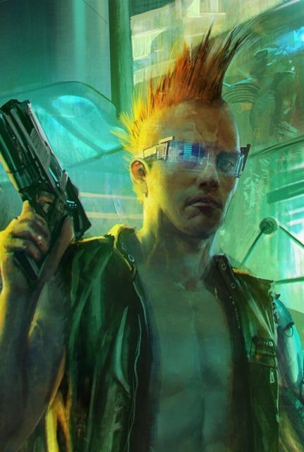 Concept art for Cyberpunk 2077