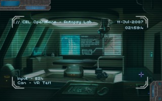 Technobabylon sometimes shakes up the rhythm by making you pilot things remotely.