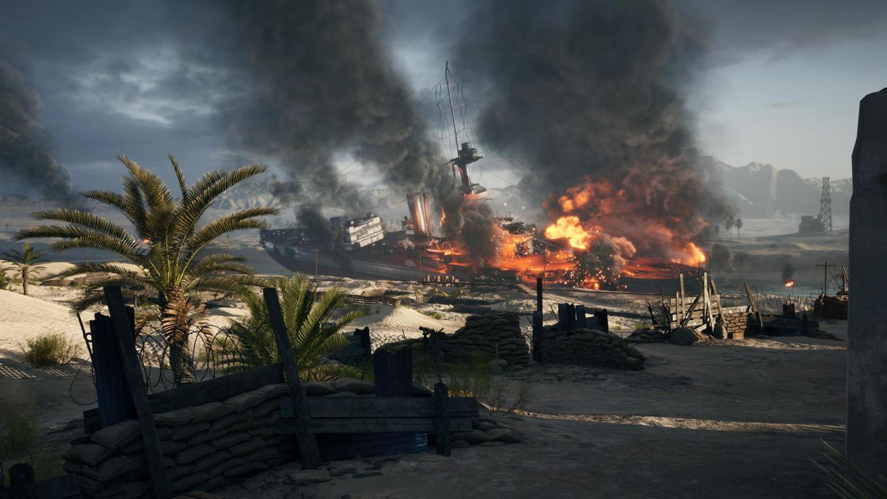 Battlefield 1's Suez map