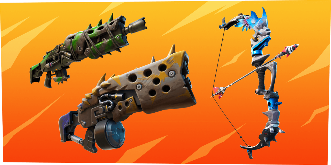 A selection of the weapons you can craft