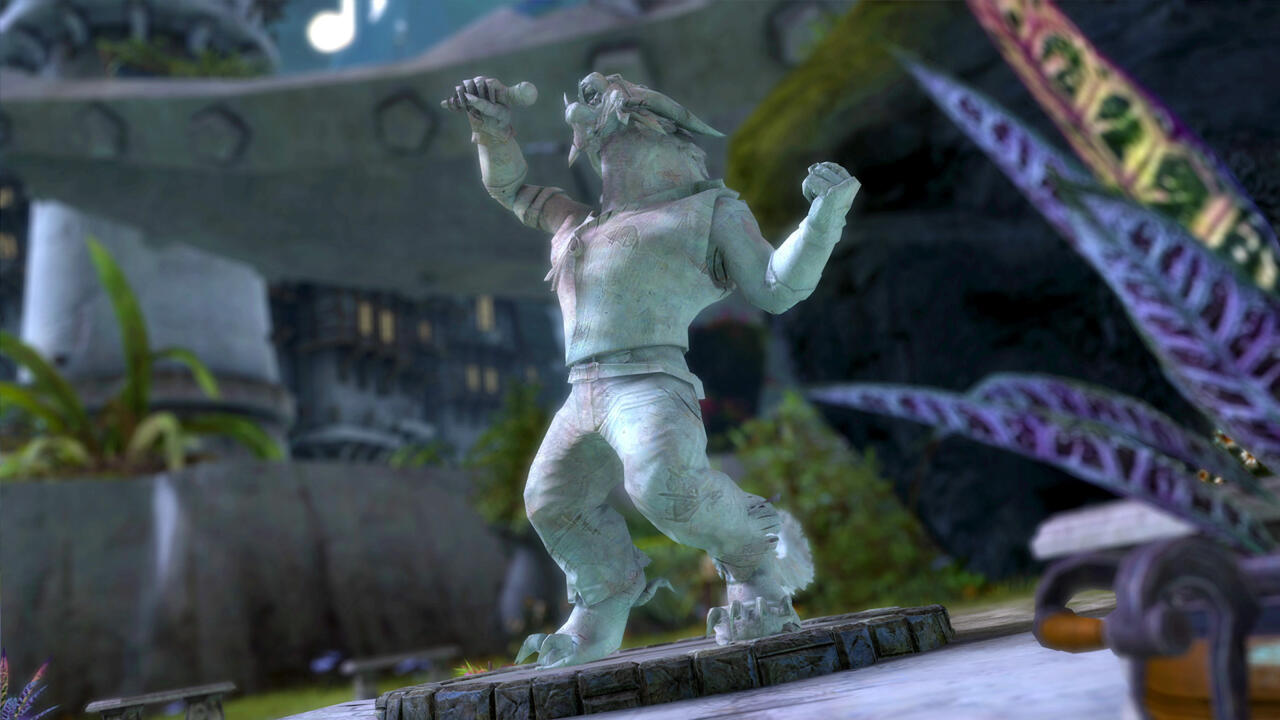 The Stan LePard statue inside Guild Wars 2