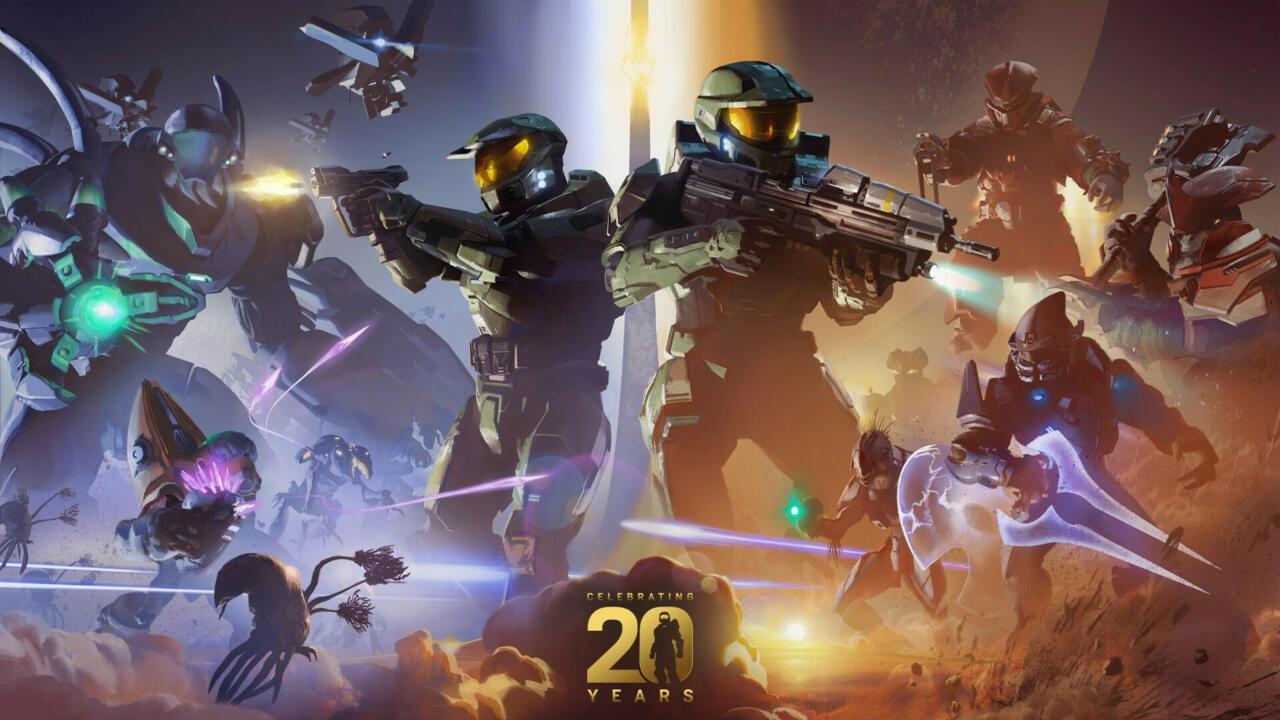 The new 20th anniversary Halo artwork