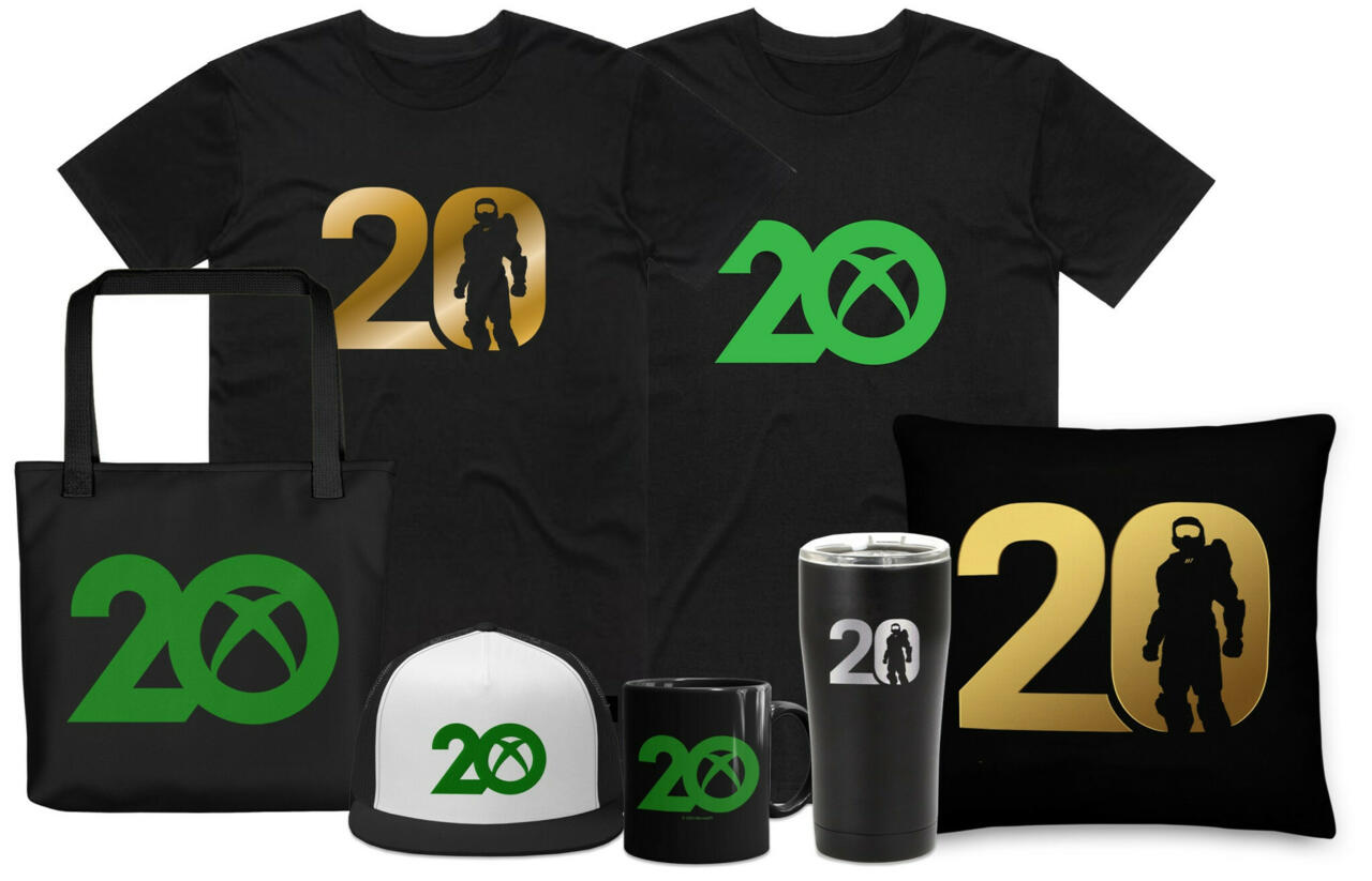 Some of the new Xbox merch you can buy to celebrate the anniversary