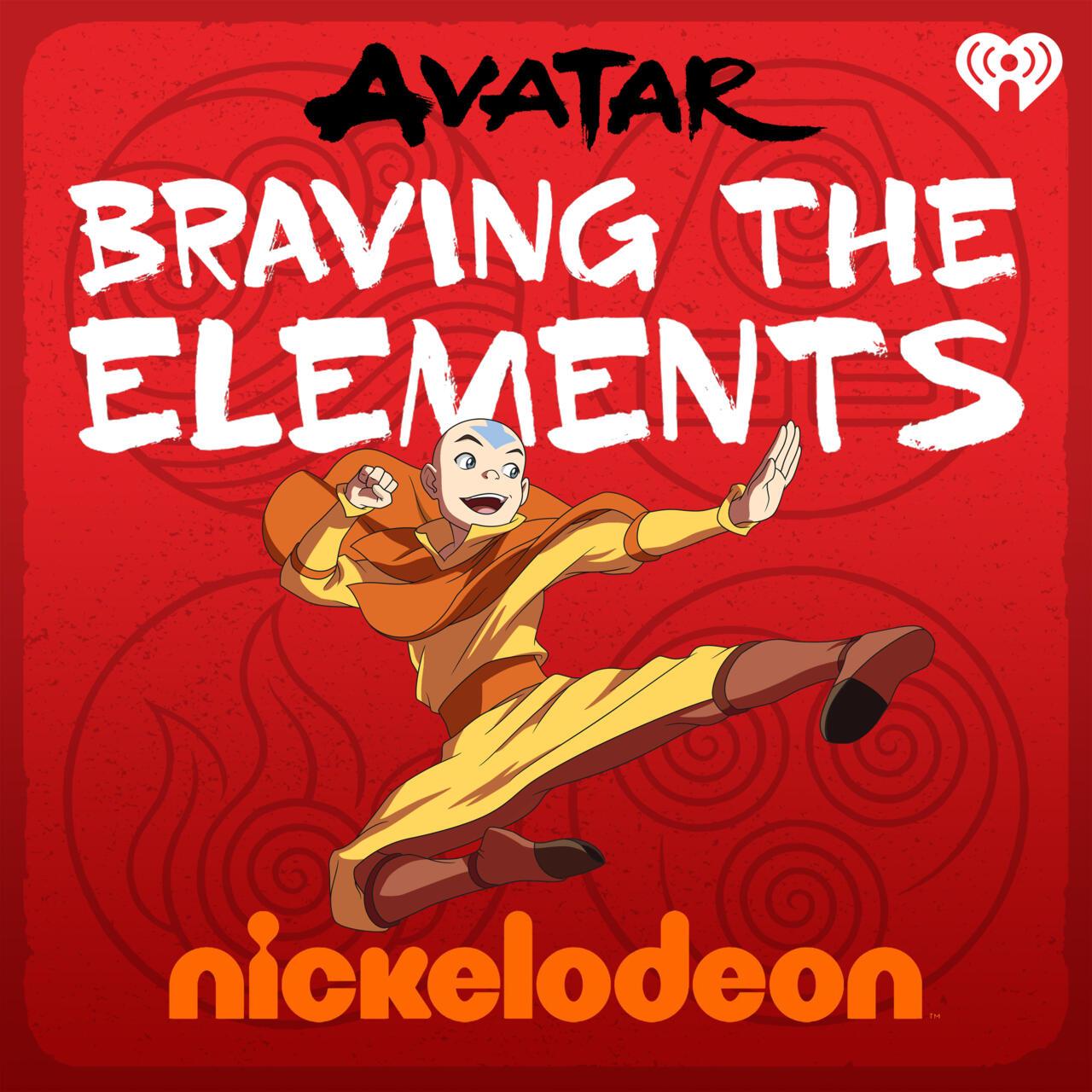 A arte chave para o novo podcast Avatar da Nickelodeon