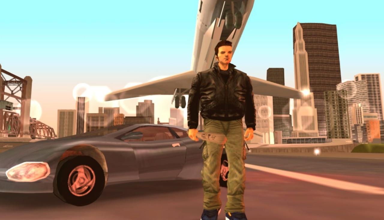 Uma cena do GTA de 2001: III