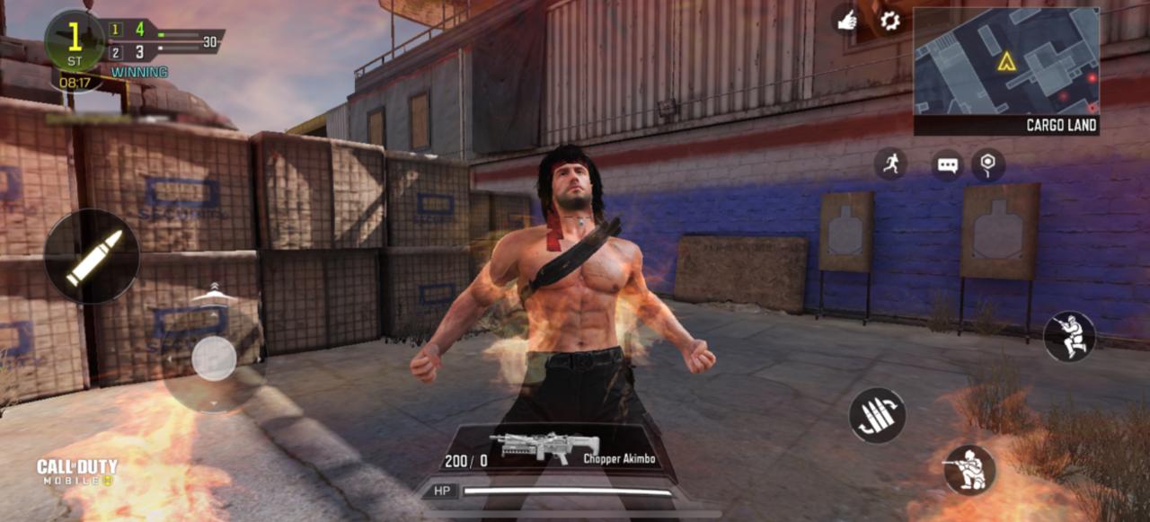 Rambo em CoD: Mobile