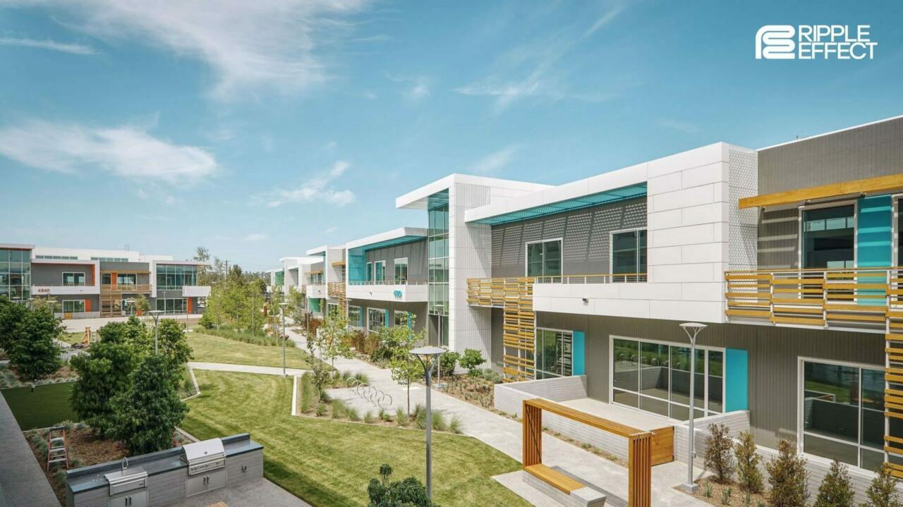 Uma renderização do novo campus Ripple Effect em Los Angeles