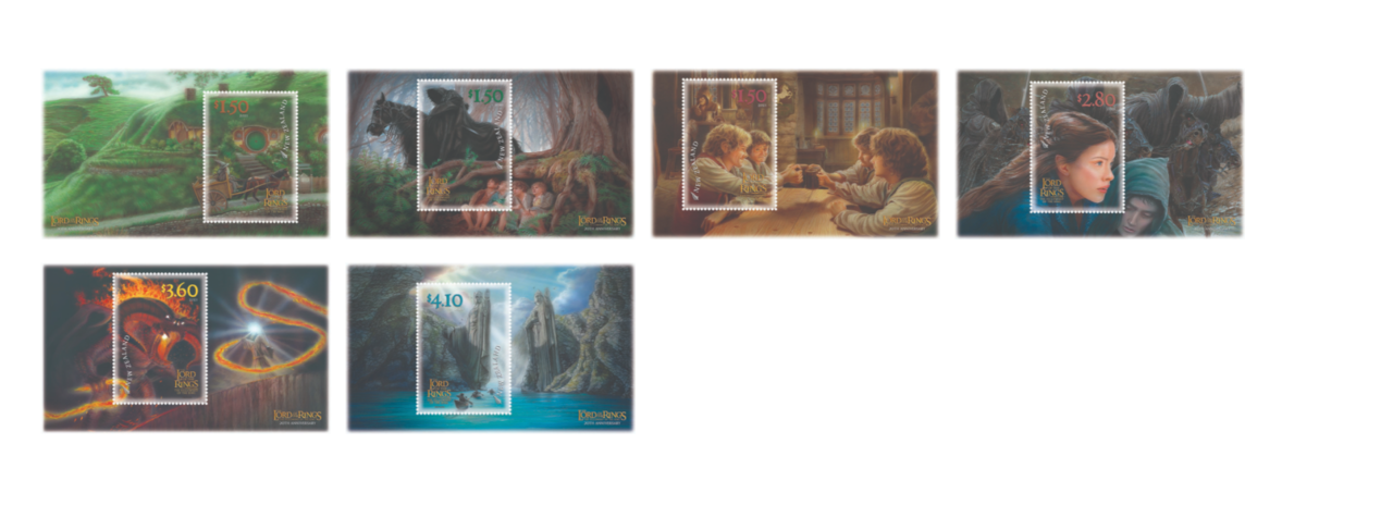 The 20th anniversary Lord of the Rings stamps from NZ Post