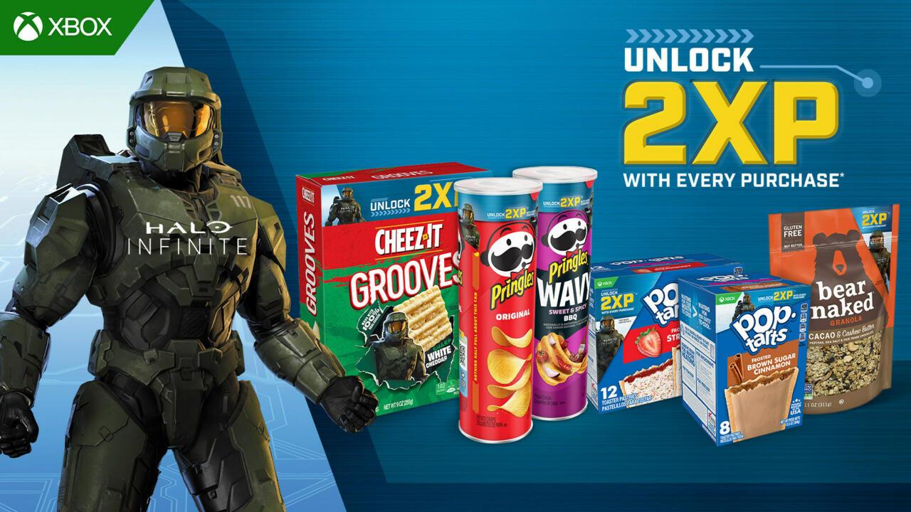 Eat snacks, get double XP