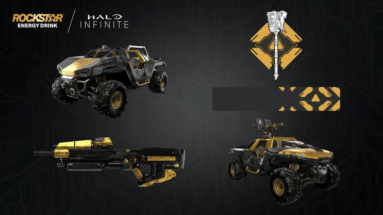 The Halo Infinite Rockstar Energy DLC