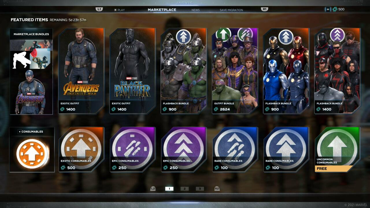 Consumables can now be purchased in Marvel's Avengers