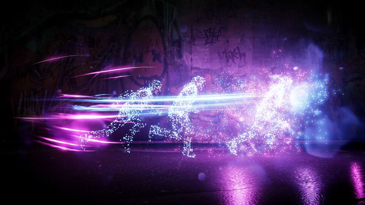 Delsin isn't restricted to a single set of powers and can swap between them by interacting with certain objects, such as neon signs.
