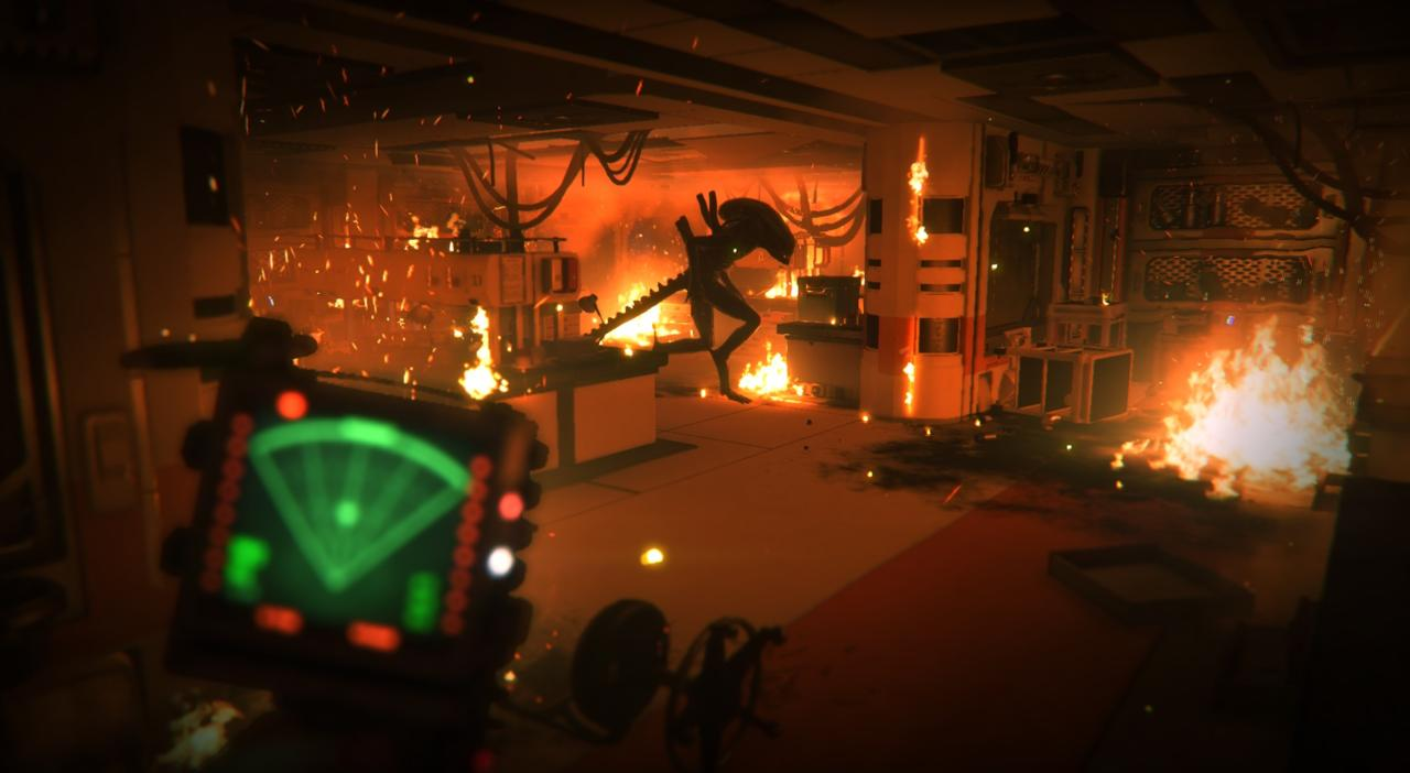 A scene from Alien: Isolation
