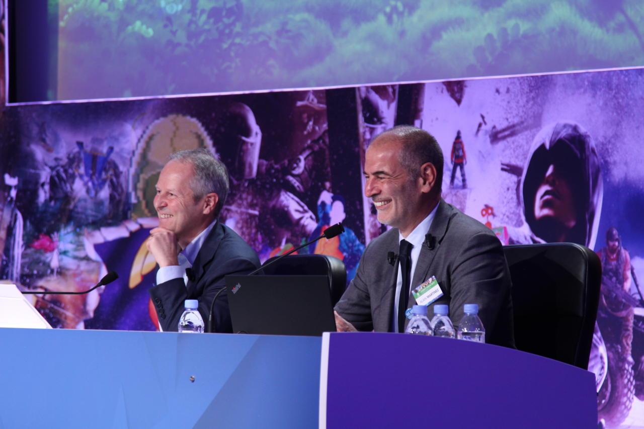 Ubisoft CEO Yves Guillemot and CFO Alain Martinez today. Image credit: Ubisoft