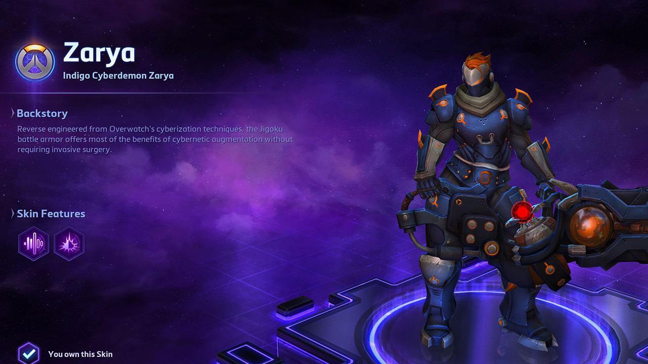 Indigo Cyberdemon Zarya