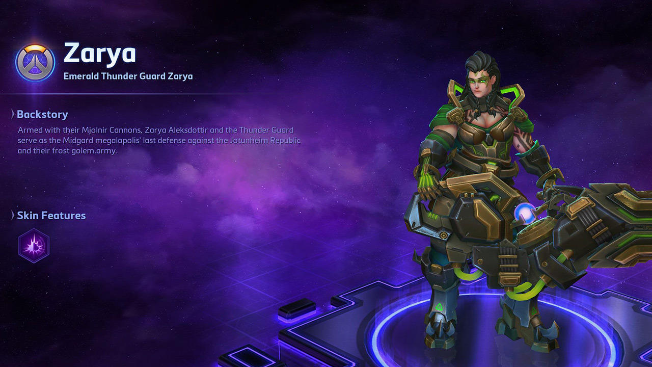 Emerald Thunder Guard Zarya