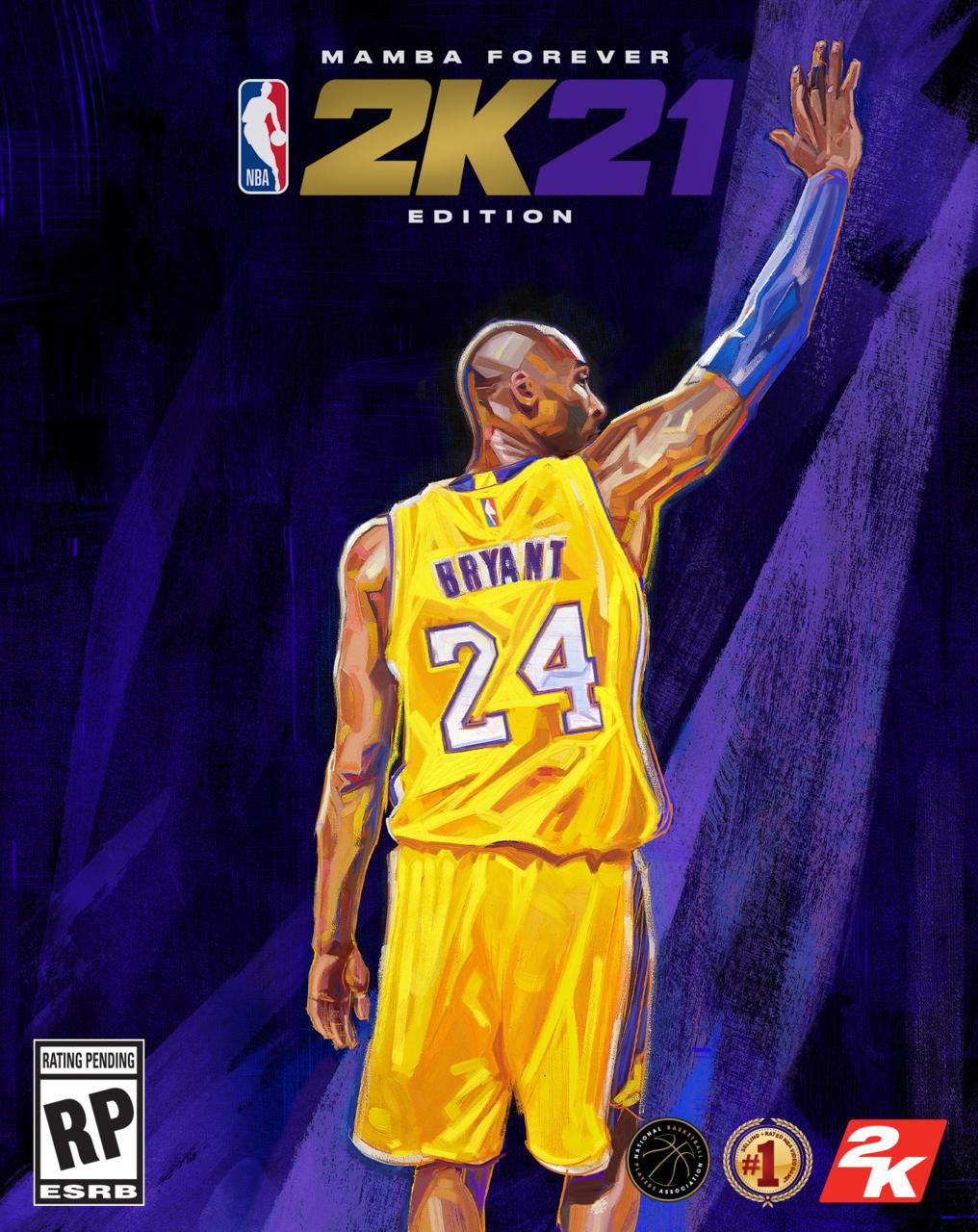 NBA 2K21 Mamba Forever edition box art on PS5/Xbox Series X