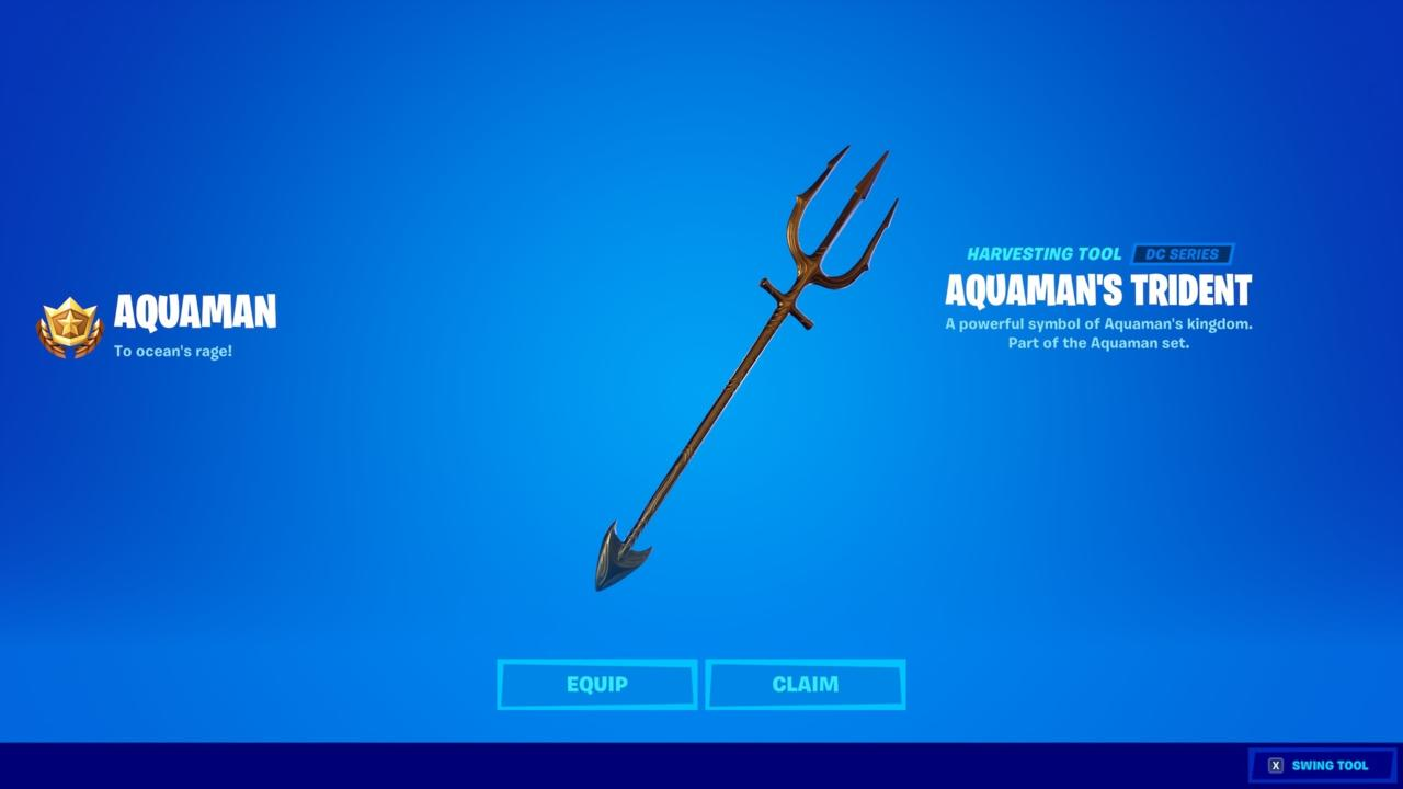 Aquaman's Trident reward