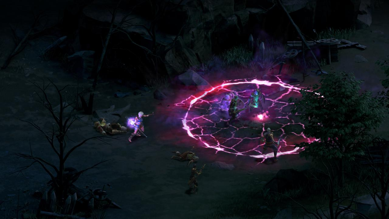Right-clicking enemies displays their stats and elemental weaknesses, which can be crucial when selecting effective spells.